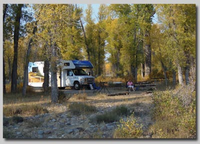Gros Ventre campsite near Jackson Hole, Wyoming.