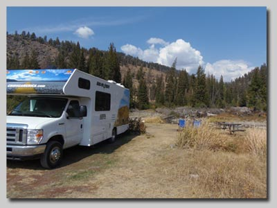 The campsite at Slough Creek in the Lamar valley.